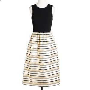 J. Crew Dress - black and gold - size 4